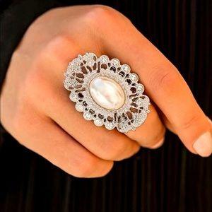 Radiantly Regal - White Ring